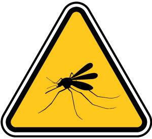 蚊注意の標識